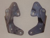 Pair 1966-67 GTO, LeMans Convertable Top Frame Mounting Brackets