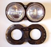 Pair 1962 Tempest Head Light Backing Plates
